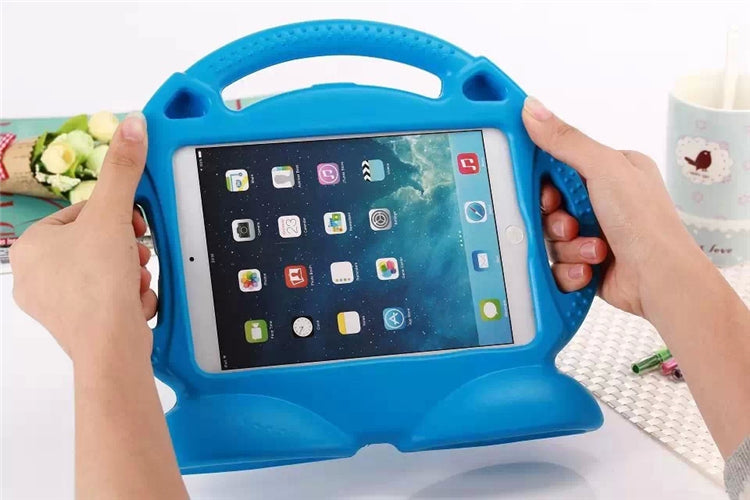 Kids iPad Shell Shockproof Cover Grip Blue
