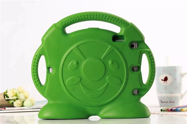 Kids iPad Shell Shockproof Cover Grip Green