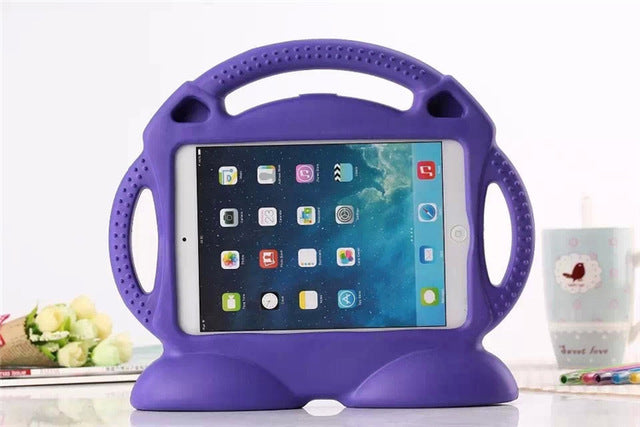 Kids iPad Shell Shockproof Cover Grip Purple