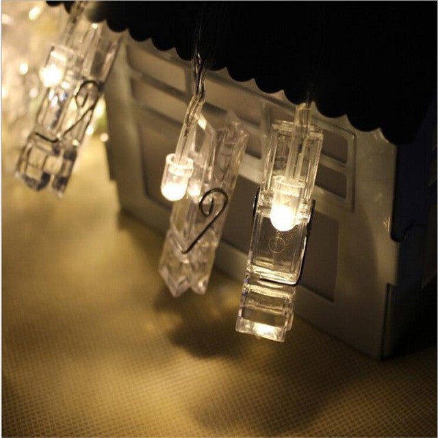 Personalized Wedding Decoration Starry Photo Holder String Lights Book Room Decor Clip Window Lights LED String Light