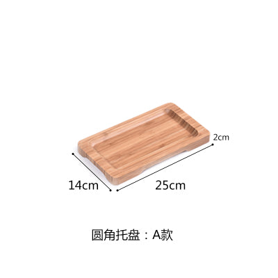Rectangle Bamboo Sushi Tray Dishes Tea Dinner Plate Party Serving Trays Style N
