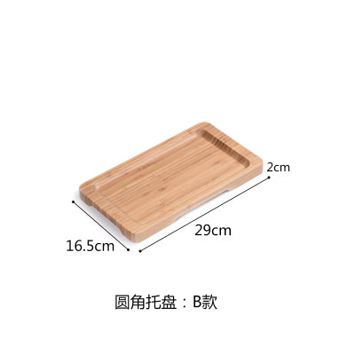 Rectangle Bamboo Sushi Tray Dishes Tea Dinner Plate Party Serving Trays Style K