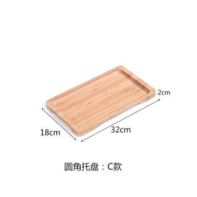 Rectangle Bamboo Sushi Tray Dishes Tea Dinner Plate Party Serving Trays Style M