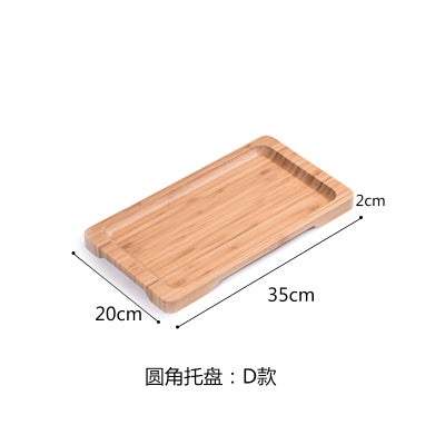 Rectangle Bamboo Sushi Tray Dishes Tea Dinner Plate Party Serving Trays Style L