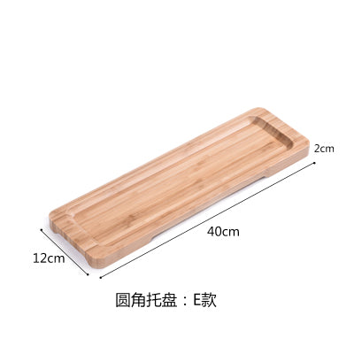 Rectangle Bamboo Sushi Tray Dishes Tea Dinner Plate Party Serving Trays Style P
