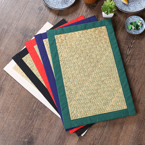 Japanese Woven Straw Placemat Table Mats