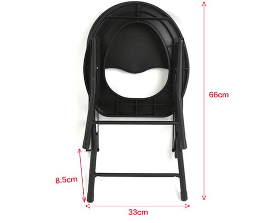 Folding Non-slip Black Toilet Seat Commodes Bathroom Mobility Accessories Size Chart C