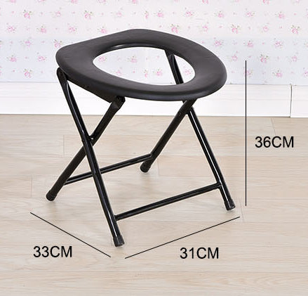 Folding Non-slip Black Toilet Seat Commodes Bathroom Mobility Accessories Size Chart A