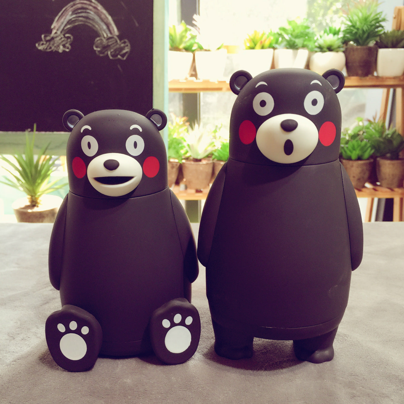 Cute Kumamon Japan Mascot Termos Flasks