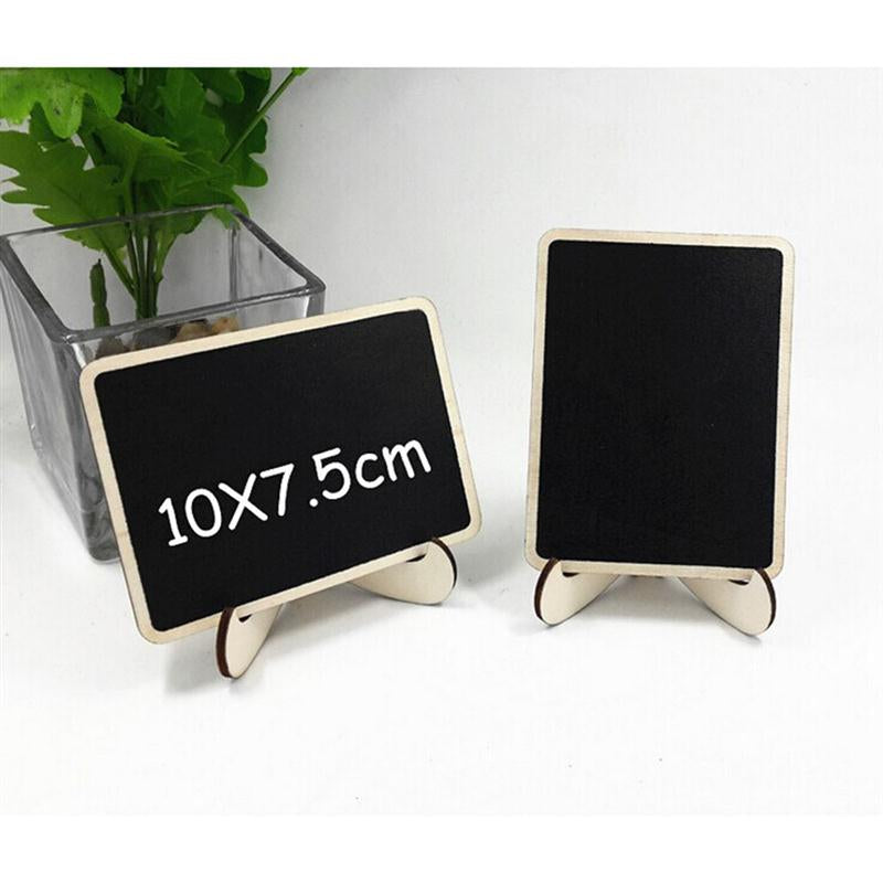 NICEXMAS 10 Piece Mini Rectangle Chalkboards With Support For Message Board Signs Wedding Dinner Party Table Place Card Signs
