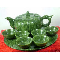 Chinese Natural Genuine South jade pumpkin tea liquor teapot Home Furnishing jewelry ornaments gifts