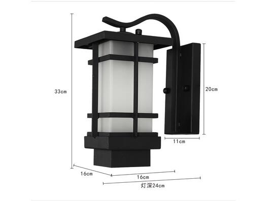WINZSC The new Chinese outdoor wall lamp European outdoor lamp waterproof iron retro Japanese living room balcony aisle wall lamp