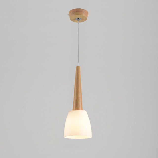 Japanese wood dining room pendant lamps miteigi japanese wood dining room pendant lamps glass horn restaurant pendant lamp simple design bar counter pendant mozeypictures Images