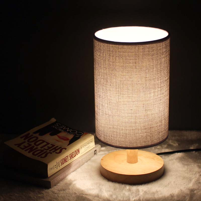 Nordic home modern simple table lamp study room bed room lamp Japanese style table lamp with LED bulbs free shipping