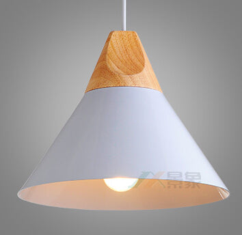 Japanese simple design pendant lights bar clothing store cafe decorated pendant lamps iron + wood single head lamps ZA