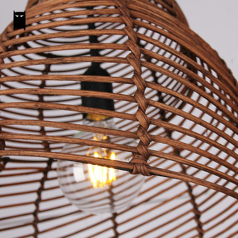Japanese Coffee Natural Rattan Snail Pendant Light - 未定義 miTeigi