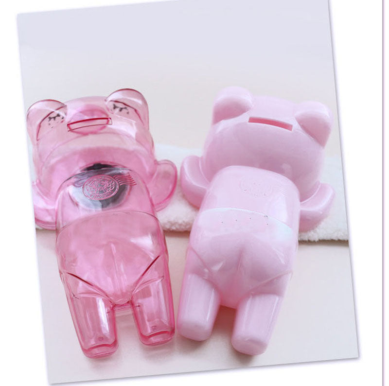 Cute Fashionista Pink Pig Coin Piggy Bank Money Savings Box Coin Piggy Bank Cash Boxes Child Kids Gift Home Decoration Accessories Style A
