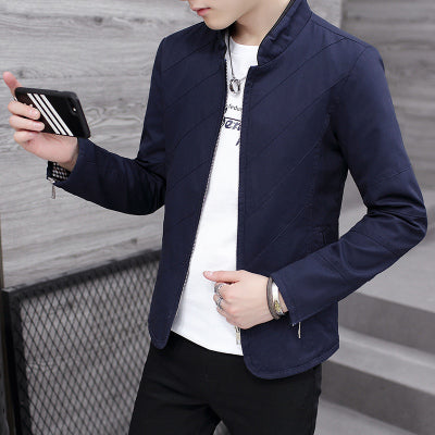 KU PAI autumn and winter new youth jackets men's jacket Japanese big yards stand collar clothes clothes coat men's tide