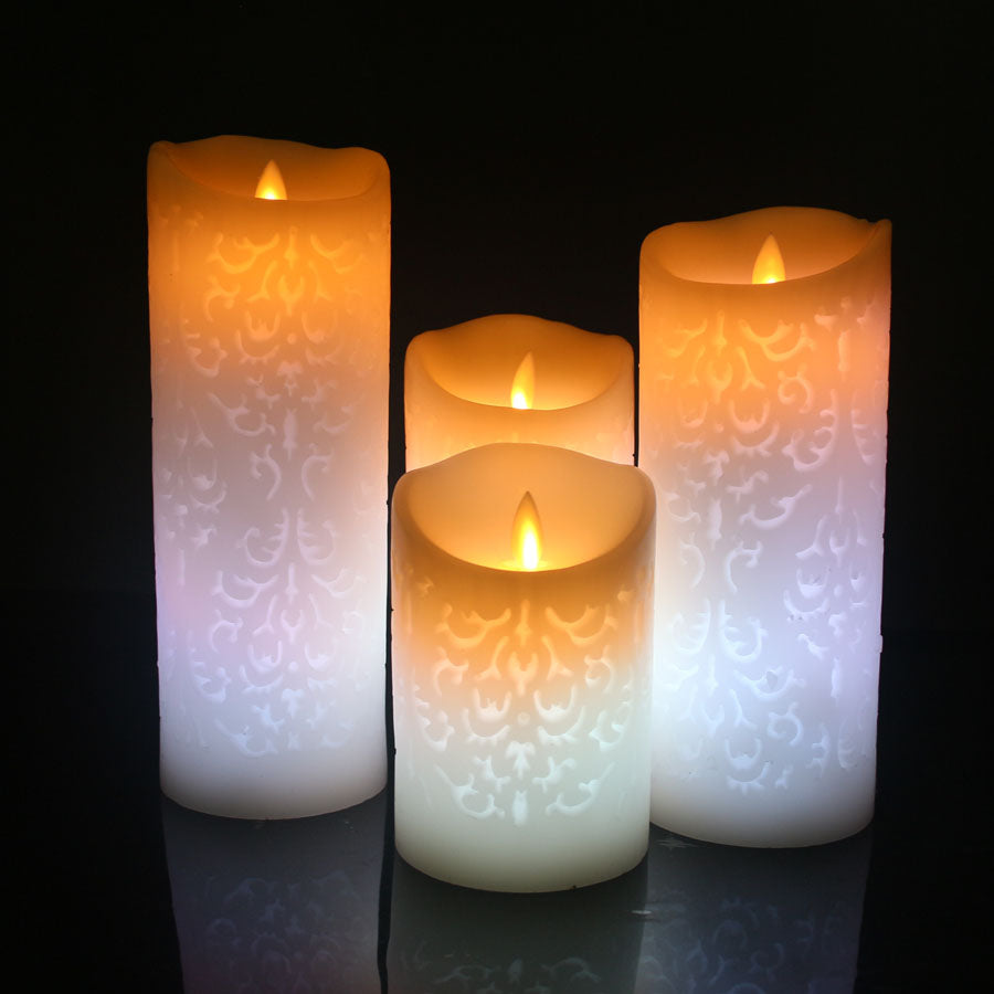 White Color Change Gradient LED Candles Remote Control Electronic Flameless Breathing Candle Night Lights Wedding Party Decoration Color Change Gradient LED Candles Remote Control Electronic Flameless Breathing Candle Night Lights Wedding Party Decoration