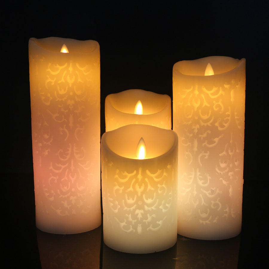 Yellow Color Change Gradient LED Candles Remote Control Electronic Flameless Breathing Candle Night Lights Wedding Party Decoration