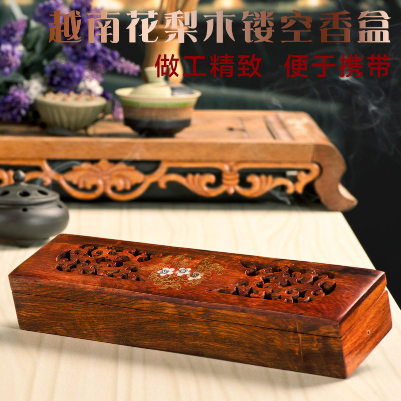 Vietnamese rosewood incense sticks box