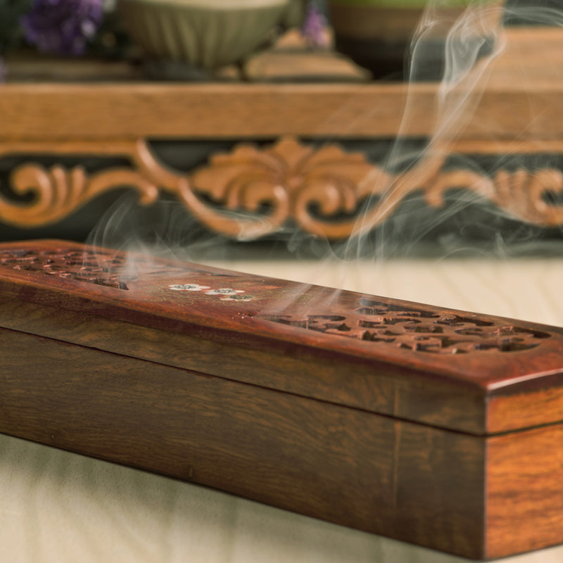 Vietnamese rosewood incense sticks box Vietnam Aromatherapy Accessories Style A