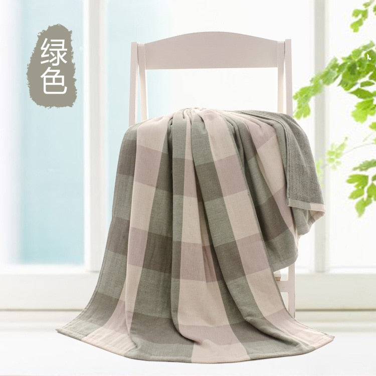 Green Japanese Two-Sided Bath Towel Size 140*70cm Cotton Yarn 32S Travel Swimming Beach Towels Bathroom Towel Large Sport Towels Japan Bathroom Linen