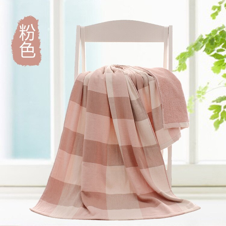 Pink Japanese Two-Sided Bath Towel Size 140*70cm Cotton Yarn 32S Travel Swimming Beach Towels Bathroom Towel Large Sport Towels Japan Bathroom Linen
