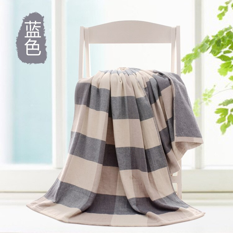 Blue Japanese Two-Sided Bath Towel Size 140*70cm Cotton Yarn 32S Travel Swimming Beach Towels Bathroom Towel Large Sport Towels Japan Bathroom Linen