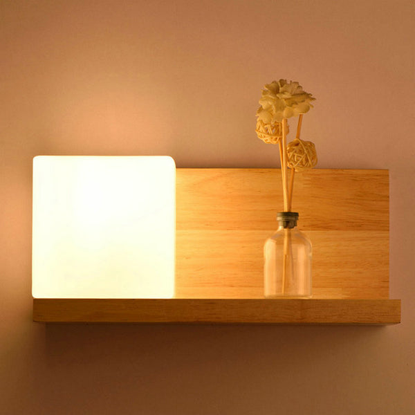 Japanese Wooden Glass led indoor wall lamps wall sconce light fixtures for home stairs bedroom lamp bedside cabinet Japan