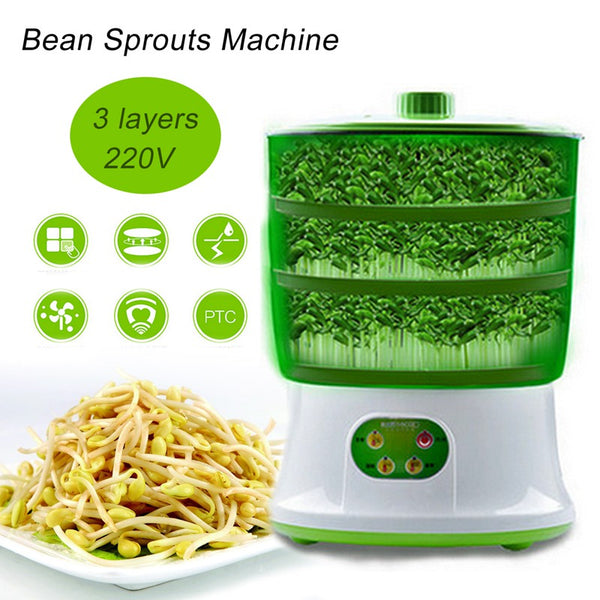 Home Grow Automatic Bean Sprout Machine Inteligent Microcomputer Control Four Seasons Ben Sprouts Machine Kitchen Electrical Appliance Home Garden Style