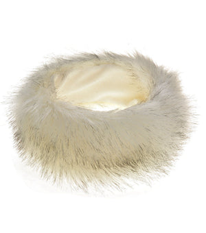New White Fur Headbands Gender Neutral Mens Womans Teens Teenagers Hair Head Band Teenager