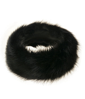New Black Fur Headbands Gender Neutral Mens Womans Teens Teenagers Hair Head Band Teenager