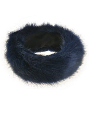 New Navy Blue Fur Headbands Gender Neutral Mens Womans Teens Teenagers Hair Head Band Teenager
