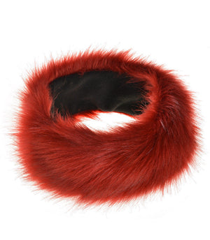 New Wine Red Fur Headbands Gender Neutral Mens Womans Teens Teenagers Hair Head Band Teenager