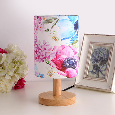 Colorful The Japanese Nordic floral bedroom lamp