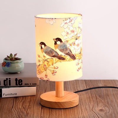 The Japanese Nordic birds bedroom lamp