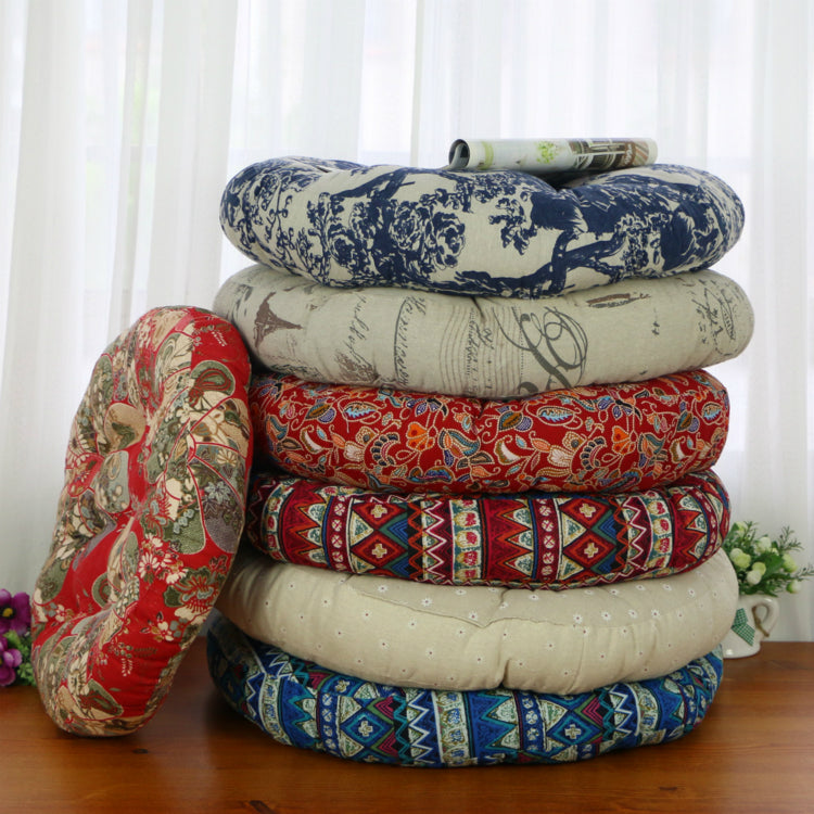 Round cotton tatami mat cushions