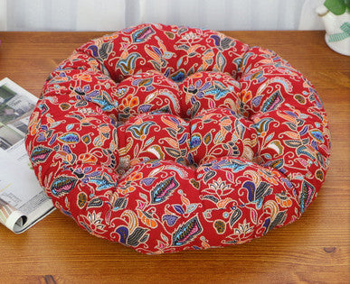 Red Round cotton tatami mat cushions
