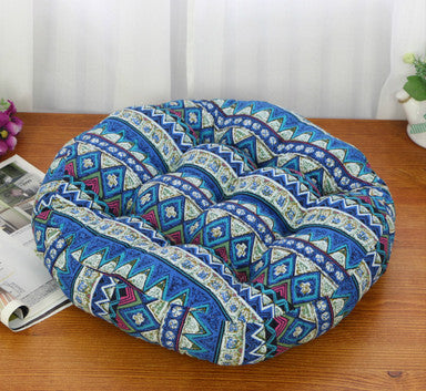 Blue Round cotton tatami mat cushions