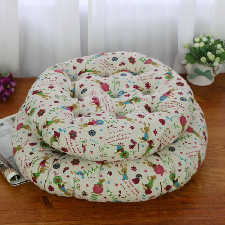 Cream Round cotton tatami mat cushions