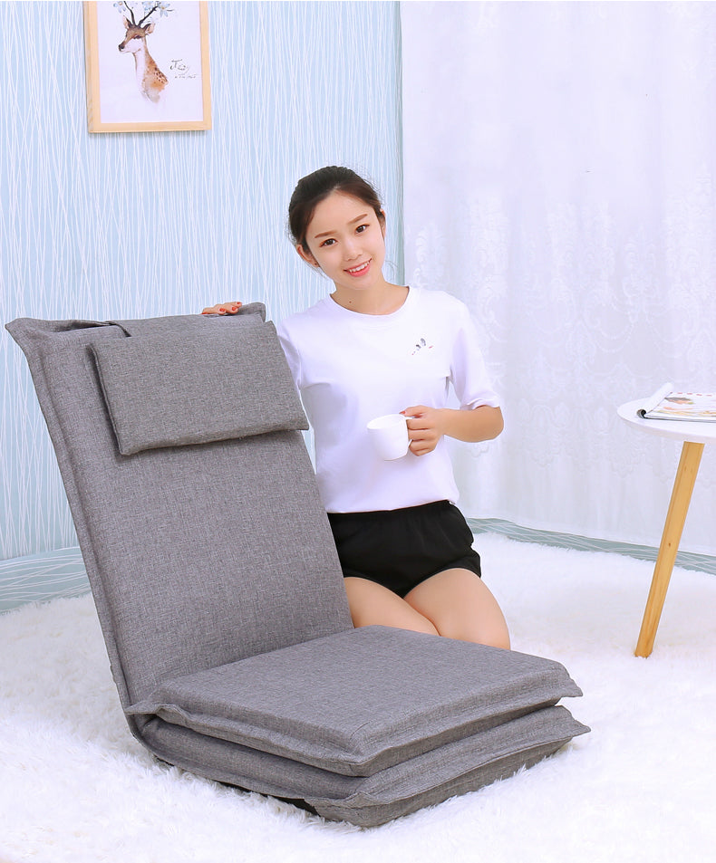 Japanese tatami backrest chair