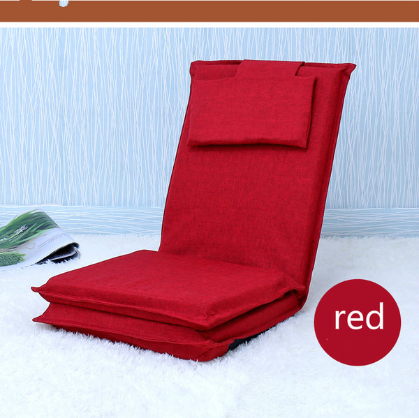 Japanese Red tatami backrest chair Bed