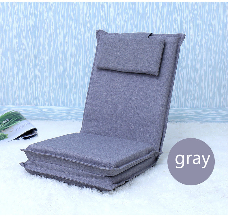 Japanese Gray tatami backrest chair