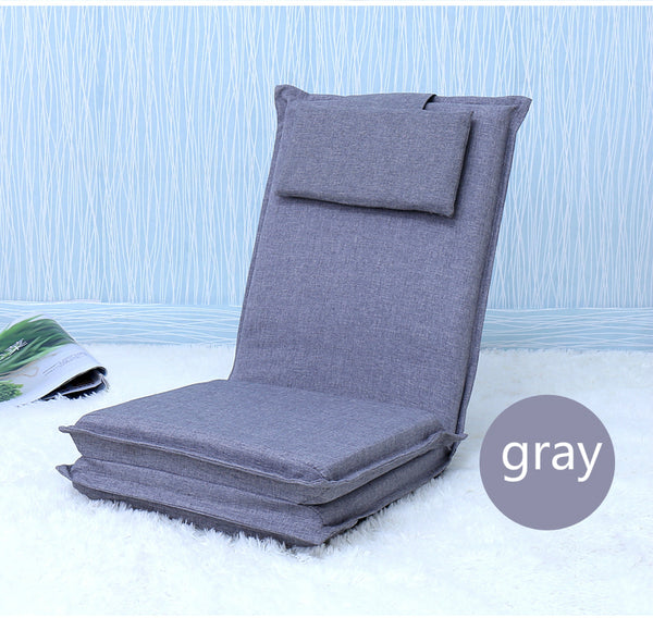 Japanese Gray tatami backrest chair bed
