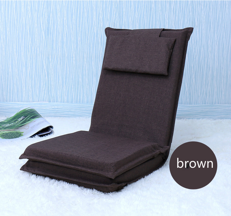Japanese Brown tatami backrest chair