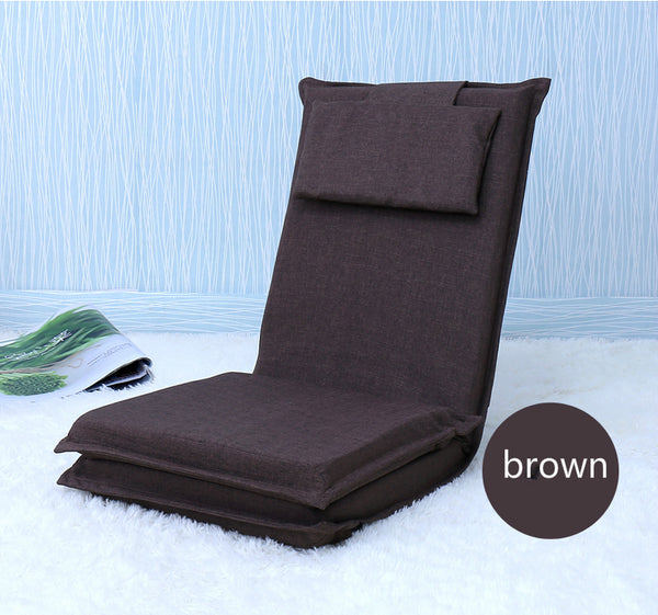 Japanese Brown tatami backrest chair bed