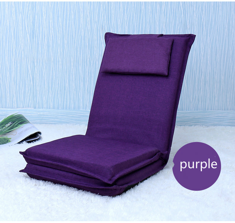 Japanese Purple tatami backrest chair