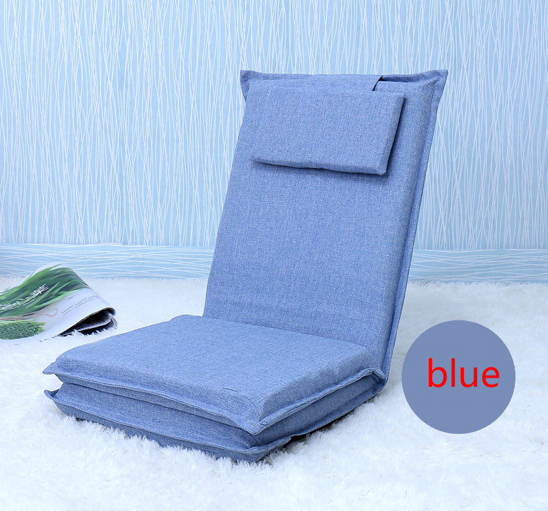 Japanese Light blue tatami backrest chair bed