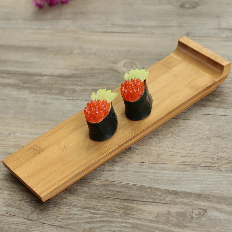 Japanese Bamboo Sushi Tray Plates Japan Dinner Plate Wood Serving Board Dinnerware Tableware Accessories Style E